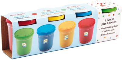 Набор пластилина, 4 банки, DJECO, артикул:5448835 - Рисование и лепка