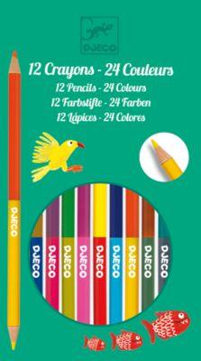 Набор из 12 двухсторонних карандашей, DJECO, артикул:5448836 - Рисование и раскрашивание