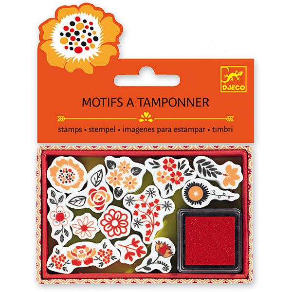 Набор штампов Цветы, DJECOДетские штампы и трафареты<br>Характеристики набора штампов Цветы:<br><br>• возраст: от 6 лет<br>• пол: для девочки<br>• комплект: 13 штампов, штемпельная подушечка.<br>• состав: картон, пластик.<br>• размер упаковки: 21 х 23 х 2 см.<br>• упаковка: пакет с хедером.<br>• бренд: Djeco<br>• страна обладатель бренда: Франция.<br><br>Набор штампов Цветы от французского бренда Djeco создан для всех любителей украшать свои работы. Штампиками можно украшать альбомные листы или тетради, а также страницы собственного дневника. Каждый штамп оснащен красивым орнаментом с содержанием различных цветов. Подушечки с краской хватит на множество использований, а затем ее можно пропитать краской снова.<br><br>Набор штампов Цветы от торговой марки Djeco (Джеко) можно купить в нашем интернет-магазине.<br>Ширина мм: 110; Глубина мм: 15; Высота мм: 20; Вес г: 60; Возраст от месяцев: 36; Возраст до месяцев: 2147483647; Пол: Женский; Возраст: Детский; SKU: 5448845;