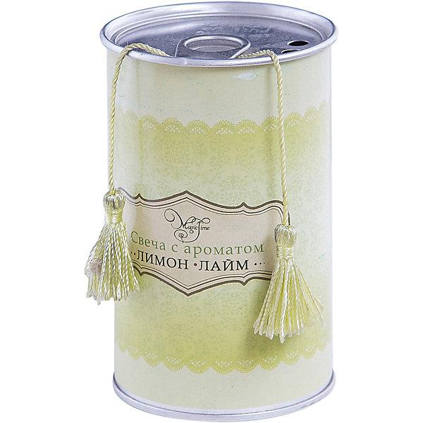 Свеча декоративная ароматизированная парафиновая с ароматом лимон-лайм, Феникс-ПрезентНовогодние свечи и подсвечники<br>Свеча декоративная ароматизированная парафиновая с ароматом лимон-лайм, Феникс-Презент <br><br>Характеристики:<br><br>• оригинальная упаковка<br>• насыщенный аромат<br>• размер: 7х7х11 см<br>• аромат: лимон-лайм<br>• материал: парафин, металл<br><br>Декоративная свеча наполнит вашу комнату освежающим ароматом лимона и лайма, красивым сиянием и внесет нотку романтики и уюта. Свеча изготовлена из парафина и расположена в закрытой жестяной банке. Оригинальная упаковка защитит поверхность вашего стола, чтобы вы могли спокойно наслаждаться насыщенным ароматом и теплым сиянием свечи.<br><br>Свечу декоративную ароматизированную парафиновую с ароматом лимон-лайм, Феникс-Презент вы можете купить в нашем интернет-магазине.<br>Ширина мм: 110; Глубина мм: 70; Высота мм: 70; Вес г: 148; Возраст от месяцев: 168; Возраст до месяцев: 2147483647; Пол: Унисекс; Возраст: Детский; SKU: 5449614;