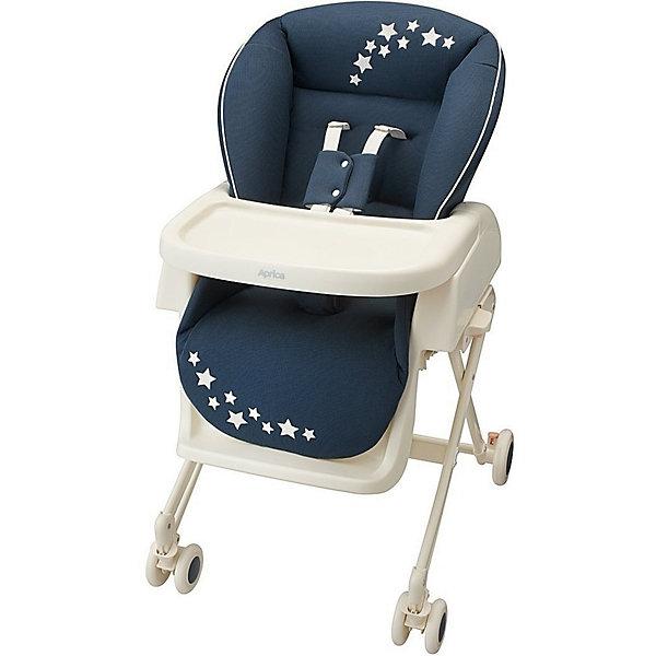 Стульчик-шезлонг Aprica, Basic, синийКолыбели-люльки для новорожденных<br>Характеристики:<br><br>• функции 2в1: колыбель-люлька для укачивания, стульчик для кормления;<br>• функция качания;<br>• съемный столик в стульчике для кормления;<br>• регулируемая высота столика: 3 уровня;<br>• регулируемые 5-ти точечные ремни безопасности;<br>• регулируется наклон спинки: 4 положения вплоть до горизонтального, угол наклона 90-170 градусов;<br>• регулируется высота люльки: 3 положения;<br>• кроватка-люлька оснащена колесиками со стопорами;<br>• компактное складывание.<br><br>Возраст ребенка: от рождения до 4-х лет<br>Вес ребенка: до 18 кг<br>Вес колыбели: 10,3 кг<br>Размер колыбели: 82/87х69х41/75 см<br>Размер стульчика: 71/85х54х69/99 см<br><br>Колыбель Basic, Aprica, синий можно купить в нашем интернет-магазине.<br>Ширина мм: 860; Глубина мм: 430; Высота мм: 555; Вес г: 12900; Цвет: синий; Возраст от месяцев: 0; Возраст до месяцев: 48; Пол: Мужской; Возраст: Детский; SKU: 5451719;