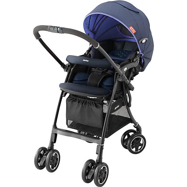 Прогулочная коляска Aprica Luxuna CTS, синийПрогулочные коляски<br>Характеристики прогулочной коляски Aprica Luxuna CTS<br><br>Прогулочный блок: <br><br>• регулируемые по длине и высоте 5-ти точечные ремни безопасности;<br>• регулируемый наклон спинки, система ремешков, угол наклона 120-170 градусов;<br>• наличие анатомических вкладышей дает возможность использовать коляску с первых дней жизни малыша;<br>• имеется выдвижная подножка с двумя сменными положениями, а также, пластиковая подножка для подросшего малыша;<br>• капюшон глубокий, надежно защищает малыша;<br>• капюшон раскладывается практически до бампера;<br>• на капюшоне имеются два сетчатых смотровых окошка под клапанами;<br>• высокая посадка ребенка в коляске;<br>• бампер можно отвести в сторону для удобной посадки ребенка;<br>• имеются отражатели солнечных лучей, которые обеспечивают терморегуляцию;<br>• сиденье и капюшон выполнены из дышащих материалов.<br><br>Размеры прогулочного блока:<br><br>ширина сиденья: 33 см;<br>высота посадки: 53 см.<br><br>Шасси коляски: <br><br>• перекидная ручка коляски;<br>• сдвоенные колеса коляски, 4 пары, всего 8 шт.;<br>• диаметр колес: 14 см;<br>• ведущие колеса - поворотные с блокировкой;<br>• при перекидывании ручки тип поворотных колес меняется: передние разблокированы, задние колеса заблокированы;<br>• амортизация;<br>• тип тормоза: ножной, отдельно на каждой паре колес;<br>• нагрузка на корзину: 5 кг, объем 20 л;<br>• механизм складывания: книжка;<br>• коляска складывается одной рукой, сохраняет вертикальное положение;<br>• рама складывается вместе с прогулочным блоком;<br>• материал рамы: алюминий.<br><br>Размер коляски: 45х82,5/91х98,5 см<br>Размер коляски в сложенном виде: 45?34?98 см<br>Вес коляски: 5,3 кг<br><br>Комплектация:<br><br>• прогулочная коляска Luxuna CTS;<br>• анатомические вкладыши;<br>• корзина для покупок;<br>• инструкция. <br><br>Прогулочную коляску Luxuna CTS, Aprica, цвет синий можно купить в нашем интернет-магазине.<br>Ширина мм: 480; Глубина