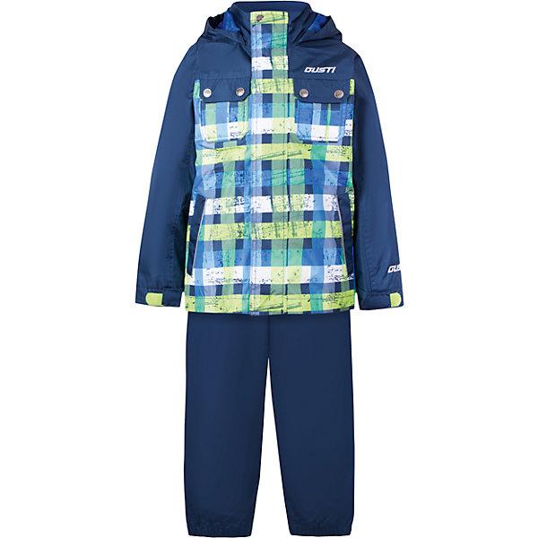 Комплект: куртка, толстовка и брюки для мальчика GustiВерхняя одежда<br>Характеристики товара:<br><br>• цвет: синий<br>• куртка: 100% полиэстер, съёмная флисовая толстовка: 100% полиэстер<br>• брюки: верх 100% полиэстер, подкладка 100% х/б<br>• без утеплителя<br>• комплектация: куртка, съемная флисовая подкладка, брюки<br>• температурный режим: от 0° С до +15° С<br>• водонепроницаемость: 2000 мм<br>• воздухопроницаемость: 2000 мм<br>• ветронепродуваемый<br>• капюшон не отстёгивается<br>• карманы<br>• съемные подтяжки<br>• брючины эластичные<br>• светоотражающие элементы<br>• молния<br>• страна бренда: Канада<br><br>Этот демисезонный комплект из куртки, пристегивающейся к ней толстовки из флиса, и штанов поможет обеспечить ребенку комфорт и тепло. Предметы удобно садятся по фигуре, отлично смотрятся с различной обувью. Комплект очень модно выглядит, он хорошо защищает от ветра и влаги. Материал отлично подходит для дождливой погоды. Стильный дизайн разрабатывался специально для детей.<br><br>Комплект: куртка, толстовка и брюки для мальчика от известного бренда Gusti (Густи) можно купить в нашем интернет-магазине.<br>Ширина мм: 356; Глубина мм: 10; Высота мм: 245; Вес г: 519; Цвет: синий; Возраст от месяцев: 12; Возраст до месяцев: 15; Пол: Мужской; Возраст: Детский; Размер: 80,152,140,128,122,120,116,110,104,100,98,92,90,86; SKU: 5452335;