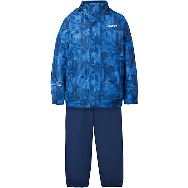 Комплект: куртка, толстовка и брюки для мальчика GustiВерхняя одежда<br>Характеристики товара:<br><br>• цвет: синий<br>• куртка: 100% полиэстер, съёмная флисовая толстовка: 100% полиэстер<br>• брюки: верх 100% полиэстер, подкладка 100% х/б<br>• без утеплителя<br>• комплектация: куртка, съемная флисовая подкладка, брюки<br>• температурный режим: от 0° С до +15° С<br>• водонепроницаемость: 2000 мм<br>• воздухопроницаемость: 2000 мм<br>• ветронепродуваемый<br>• капюшон не отстёгивается<br>• пять внешних карманов<br>• съемные подтяжки<br>• брючины эластичные<br>• светоотражающие элементы<br>• молния<br>• страна бренда: Канада<br><br>Этот демисезонный комплект из куртки, пристегивающейся к ней толстовки из флиса, и штанов поможет обеспечить ребенку комфорт и тепло. Предметы удобно садятся по фигуре, отлично смотрятся с различной обувью. Комплект очень модно выглядит, он хорошо защищает от ветра и влаги. Материал отлично подходит для дождливой погоды. Стильный дизайн разрабатывался специально для детей.<br><br>Комплект: куртка, толстовка и брюки для мальчика от известного бренда Gusti (Густи) можно купить в нашем интернет-магазине.<br>Ширина мм: 356; Глубина мм: 10; Высота мм: 245; Вес г: 519; Цвет: синий; Возраст от месяцев: 36; Возраст до месяцев: 48; Пол: Мужской; Возраст: Детский; Размер: 104,92,152,140,128,122,120,116,110,100,98; SKU: 5452362;