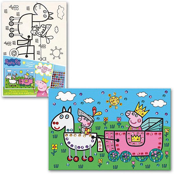 """Рисование по холсту """"Королевская карета"""", Peppa Pig"""