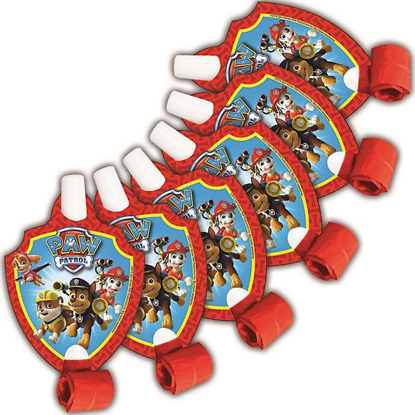 Росмэн Язычок 6 шт., Щенячий патруль мелки щенячий патруль 6 цветов 34017