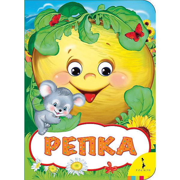 Книжка РепкаПервые книги малыша<br>Характеристики:<br>• количество страниц: 8;<br>• иллюстрации: цветные;<br>• переплёт: твердый;<br>• формат: 22х16х0,5 см;<br>• вес: 100 грамм;<br>• ISBN: 9785353082668.<br><br>Сказка «Репка» интересна и понятна даже самым юным читателям. Малыш с радостью послушает интересную историю, а потом попробует пересказать или даже сыграть сценку из сказки о дружном семействе.<br><br>Простые и понятные фразы помогут ребенку с легкостью запомнить и выучить сказку.<br><br>Книга дополнена яркими иллюстрациями и двигающимися глазками.<br><br>Книжку Репка, Rosman (Росмэн) можно купить в нашем интернет-магазине.<br>Ширина мм: 220; Глубина мм: 160; Высота мм: 50; Вес г: 122; Возраст от месяцев: -2147483648; Возраст до месяцев: 2147483647; Пол: Унисекс; Возраст: Детский; SKU: 5453620;