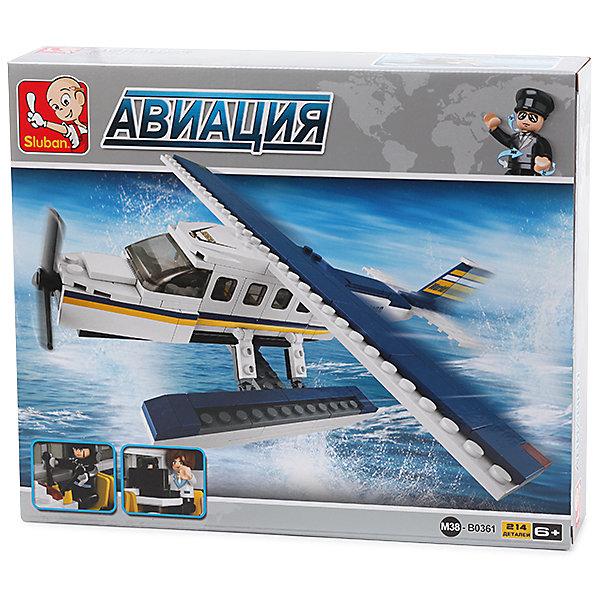 Sluban Конструктор Авиация: Самолёт-амфибия, 214 деталей, Sluban конструктор sluban железнодорожный вокзал старинное авто 56дет