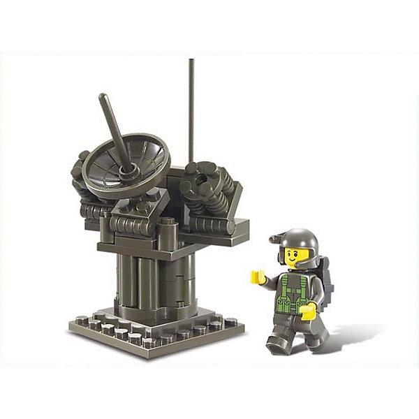 Конструктор Сухопутные войска: РЛС, 44 детали, SlubanПластмассовые конструкторы<br>Конструктор Сухопутные войска: РЛС, 44 детали, Sluban (Слубан)<br><br>Характеристики:<br><br>• возраст: от 6 лет<br>• радиолокационная система<br>• мини-фигурка в комплекте<br>• количество деталей: 44<br>• материал: пластик<br>• размер упаковки: 9х4х12 см<br>• вес: 90 грамм<br><br>Без радиолокационной системы не обходятся ни одни военные действия. Из конструктора Sluban ребенок сможет собрать свою радиолокационную систему, отлично подходящую для любой игры. Военный быстро отследит перемещение противника и справится с поставленной задачей.<br><br>Конструктор Сухопутные войска: РЛС, 44 детали, Sluban (Слубан) вы можете купить в нашем интернет-магазине.<br>Ширина мм: 120; Глубина мм: 40; Высота мм: 90; Вес г: 90; Возраст от месяцев: 72; Возраст до месяцев: 2147483647; Пол: Унисекс; Возраст: Детский; SKU: 5453703;