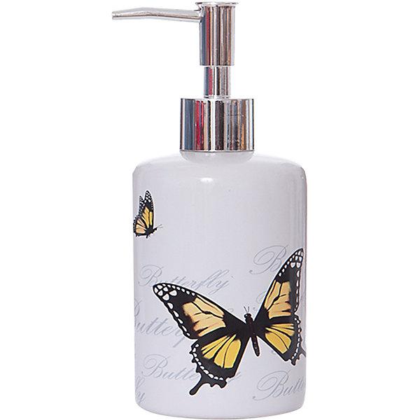 Дозатор для жидкого мыла Бабочки DIS-FLY,Рыжий котАксессуары для ванны<br>Дозатор для жидкого мыла Бабочки DIS-FLY,Рыжий кот<br><br>Характеристики:<br><br>• приятный дизайн<br>• удобный дозатор<br>• материал: керамика<br>• объем: 250 мл<br>• размер: 7,3х7,3х17 см<br><br>Дозатор Бабочки подходит для любого жидкого мыла или геля. Он очень удобен и прост в использовании. Дозатор изготовлен из керамики и имеет приятный дизайн с изображением бабочек. Объем дозатора - 250 мл.<br><br>Дозатор для жидкого мыла Бабочки DIS-FLY,Рыжий кот вы можете купить в нашем интернет-магазине.<br>Ширина мм: 70; Глубина мм: 70; Высота мм: 170; Вес г: 312; Возраст от месяцев: 12; Возраст до месяцев: 1188; Пол: Унисекс; Возраст: Детский; SKU: 5454074;