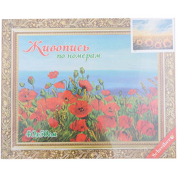 Купить Набор для раскрашивания по номерам Цветы 40*50 см, Schreiber, Китай, Унисекс