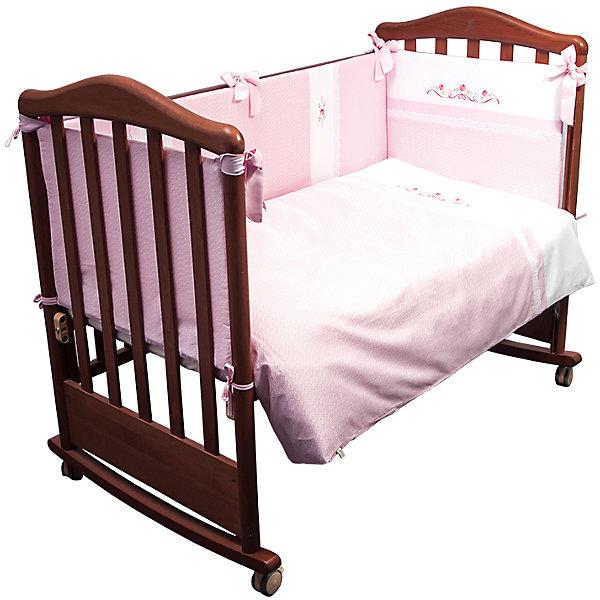 Сонный гномик Детское постельное белье 3 предмета Сонный гномик, Прованс, розовый борт в кроватку сонный гномик считалочка бежевый бсс 0358105 4