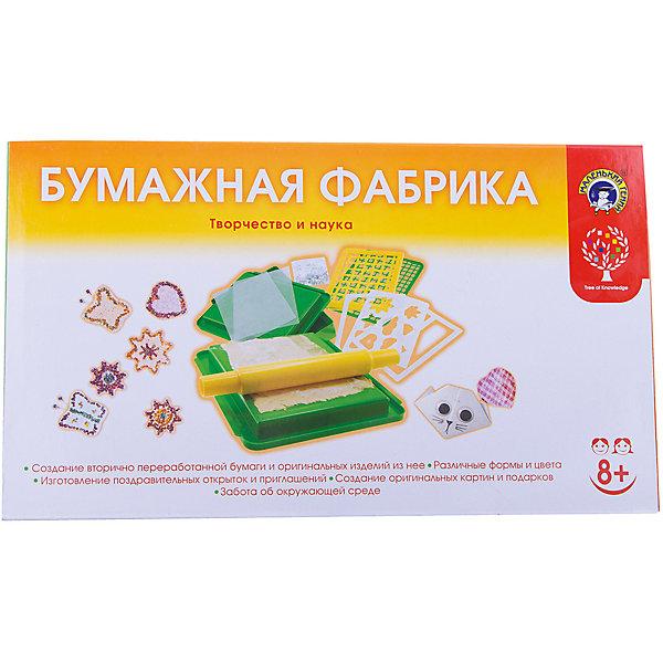 Набор Бумажная фабрика, Маленький генийХимия и физика<br>Набор Бумажная фабрика, Маленький гений.<br><br>Характеристики:<br><br>• В наборе: контейнер, рамка, панель, трафарет - 3 шт., доска, сеточка, ролик, блестки, инструкция<br>• Упаковка: картонная коробка<br>• Размер упаковки: 39х23х6,5 см.<br><br>Набор Бумажная фабрика - отличная возможность не только узнать, как делается бумага, но и создавать ее самому, да еще по собственному дизайну. Инструкция с яркими иллюстрациями поможет лучше понять, что нужно сделать. Как только ваш ребенок научится делать бумагу, он получит поистине безграничные возможности для творчества. С помощью трафаретов можно изготовить из сделанной бумаги цветы, бабочек, звезды. <br><br>В инструкции подробно рассказано, как сделать рамки для фотографий, фотоальбом, бумажные цветы, подвеску, кошечку, стаканчик, коробку-подставку, а также приведены примеры различных картин. Занимаясь с этим набором, маленькие мастера разовьют художественный вкус и воображение. Поделки, полученные в процессе работы, станут отличным подарком для друзей и близких.<br><br>Набор Бумажная фабрика, Маленький гений можно купить в нашем интернет-магазине.<br>Ширина мм: 390; Глубина мм: 240; Высота мм: 65; Вес г: 700; Возраст от месяцев: 96; Возраст до месяцев: 144; Пол: Унисекс; Возраст: Детский; SKU: 5454200;