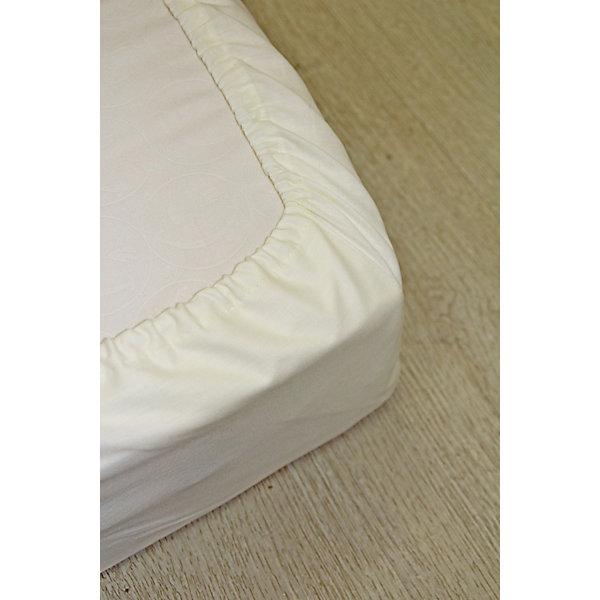 Простынь на резинке, кулиркаПостельное белье в кроватку новорождённого<br>Характеристики:<br>Размер: 60*120 см<br>Материал: трикотаж, тип плетение кулирка<br>По краю изделия вшита резинка<br>Цвет: молочный однотонный<br>Ширина мм: 260; Глубина мм: 220; Высота мм: 30; Вес г: 300; Возраст от месяцев: 0; Возраст до месяцев: 36; Пол: Унисекс; Возраст: Детский; SKU: 5465330;