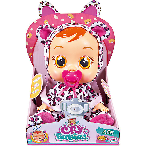 IMC Toys Плачущий младенец IMC Toys Cry Babies Лея imc toys imc toys кукла интерактивная crybabies плачущий младенец лея