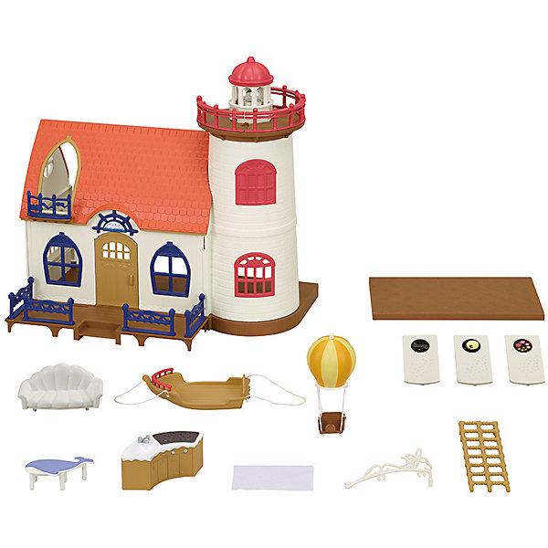Набор Маяк звездочета с проектором, Sylvanian FamiliesSylvanian Families<br>Характеристики:<br><br>• возраст: от 3 лет<br>• комплектация: двухэтажный домик с мебелью (столик, лестницы, кроватка, диванчик, кухня), воздушный шар, маяк-проектор, 3 слайда<br>• фигурки в комплект не включены<br>• размер домика: 44х21,5х35 см.<br>• вес: 2,15 кг.<br>• батарейки: 3 типа ААА<br>• наличие батареек: в комплект не включены<br><br>Набор Маяк звездочета с проектором Sylvanian Families из серии Морское путешествие - это не просто домик звездочета с потрясающими аксессуарами, а еще и маяк с настоящим проектором.<br><br>Уютный домик включает два этажа. Домик выполнен в морском стиле: здесь есть кроватка-гамак, лесенка из морских ракушек, столик в виде кита и маяк, на который можно подняться по подвесной лестнице. Он комфортен для проживания целой семейки зверюшек Sylvanian Families (фигурки необходимо приобрести отдельно).<br><br>Набор Маяк звездочета с проектором, Sylvanian Families м (Сильвания Фэмили) ожно купить в нашем интернет-магазине.<br>Ширина мм: 444; Глубина мм: 358; Высота мм: 226; Вес г: 2263; Возраст от месяцев: 36; Возраст до месяцев: 2147483647; Пол: Женский; Возраст: Детский; SKU: 5467538;