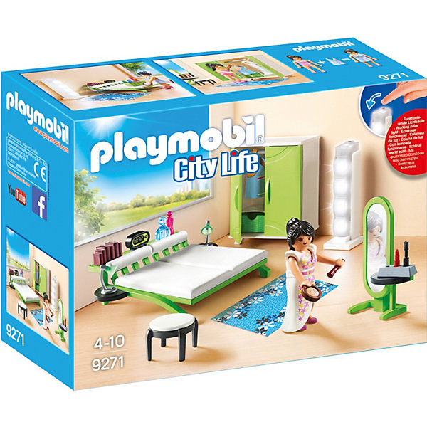 Конструктор Playmobil Кукольный дом СпальняПластмассовые конструкторы<br>Характеристики товара:<br><br>• возраст: от 4 лет;<br>• комплект: фигурка, мебель, аксессуары;<br>• материал: пластик;<br>• упаковка: картонная коробка;<br>• размер упаковки: 25 x 18 x 9 см..;<br>• вес: 300 гр.;<br>• наименование бренда:Playmobil.<br><br>«Спальня» из серии «Кукольный дом» от Playmobil - Игровой набор с элементами конструктора. Конструктор имеет настолько реально изготовленные детали, что ребенок может представить, будто попадает в настоящую комнату, только в миниатюрном формате. Набор позволяет играть в него в одиночку или с друзьями. Игровые наборы Playmobil содержат фигурки героев, различные предметы интерьера и аксессуары. <br><br>Конструкторы подходят детям старше 4 лет. Продукция сертифицирована, экологически безопасна для ребенка, использованные красители не токсичны и гипоаллергенны. Набор помогает детям развиваться творчески, учится думать, проявлять усидчивость и терпение, а главное – получать удовольствие от своей игры.<br>Ширина мм: 253; Глубина мм: 190; Высота мм: 96; Вес г: 287; Возраст от месяцев: 48; Возраст до месяцев: 120; Пол: Женский; Возраст: Детский; SKU: 5467566;