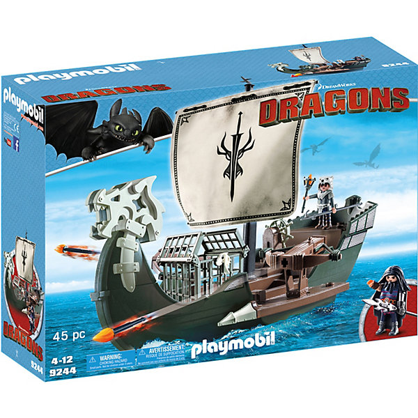 PLAYMOBIL® Конструктор Playmobil Драконий корабль викингов, 10 деталей playmobil игровой набор питары пиратский боевой корабль