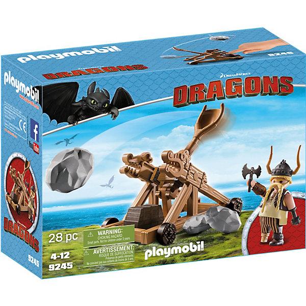 PLAYMOBIL® Конструктор Playmobil Драконы Гоббер с катапультой playmobil игровой набор возьми с собой рыцарь с катапультой