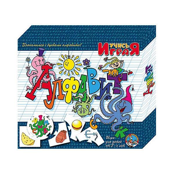 Игра обучающая  Алфавит, Десятое королевствоОбучающие игры для дошкольников<br>Игра обучающая Алфавит, Десятое королевство<br><br>Характеристики:<br><br>• Возраст: от 3 лет<br>• Количество игроков: от 1 до 10<br>• В комплекте: 10 карточек заданий, 4 карточки с ответами<br><br>В этой увлекательной обучающей игре могут участвовать одновременно от 1 до 10 детей! В наборе содержатся 10 карточек-заданий, на которых изображены рисунки по теме «алфавит». К каждой необходимо найти 4 карточки-ответа, чтобы дополнить их содержание. В процессе игры дети знакомятся буквами, делают первые шаги в чтении, работают над мелкой моторикой и расширяют свои знания и представления об окружающем мире.<br><br>Игра обучающая Алфавит, Десятое королевство можно купить в нашем интернет-магазине.<br>Ширина мм: 230; Глубина мм: 200; Высота мм: 35; Вес г: 240; Возраст от месяцев: 84; Возраст до месяцев: 2147483647; Пол: Унисекс; Возраст: Детский; SKU: 5471689;