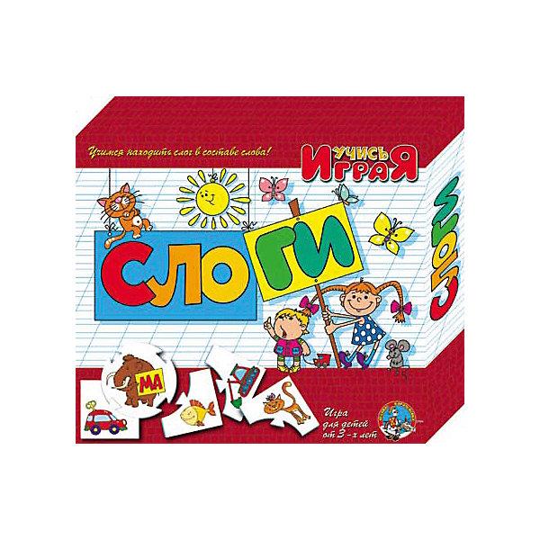 Игра обучающая Слоги, Десятое королевствоОбучающие игры для дошкольников<br>Игра обучающая Слоги, Десятое королевство<br><br>Характеристики:<br><br>• Возраст: от 3 лет<br>• Количество игроков: от 1 до 10<br>• В комплекте: 10 карточек заданий, 4 карточки с ответами<br><br>В этой увлекательной обучающей игре могут участвовать одновременно от 1 до 10 детей! В наборе содержатся 10 карточек-заданий, на которых изображены рисунки. К каждой необходимо найти 4 карточки-ответа, чтобы дополнить их содержание. В процессе игры дети работают над мелкой моторикой и расширяют свои знания и представления об окружающем мире.<br><br>Игра обучающая Слоги, Десятое королевство можно купить в нашем интернет-магазине.<br>Ширина мм: 230; Глубина мм: 200; Высота мм: 35; Вес г: 240; Возраст от месяцев: 84; Возраст до месяцев: 2147483647; Пол: Унисекс; Возраст: Детский; SKU: 5471693;