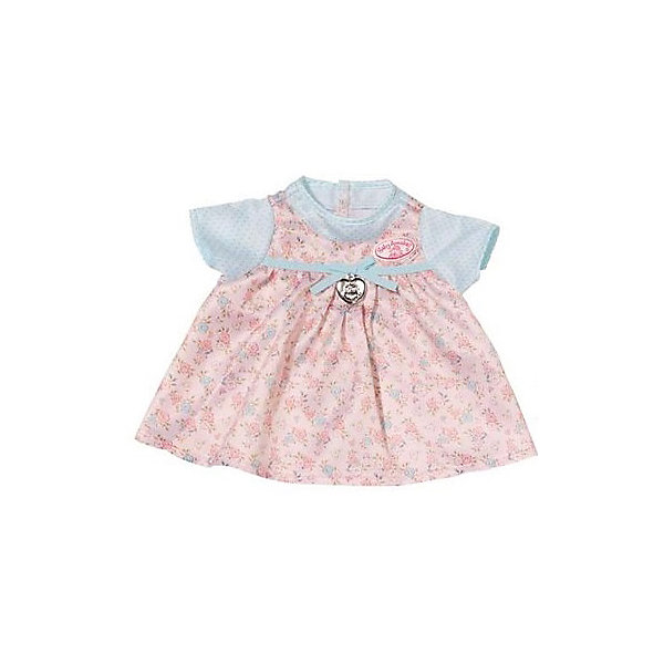 Zapf Creation Платье для куклы, розово-голубое, Baby Annabell zapf creation одежда для куклы my first baby annabell платье цвет красный