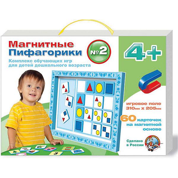 Набор Магнитные Пифагорики 4+, Десятое королевствоОбучающие игры для дошкольников<br>Набор Магнитные Пифагорики 4+, Десятое королевство<br><br>Характеристики: <br><br>• Возраст: от 4 лет<br>• Материал: вспененный полимер, магнит, картон<br>• В комплекте: Игровое поле, 60 карточек на магнитной основе, инструкция на русском языке<br><br>Этот набор позволяет в удобной игровой форме обучить ребенка основным цветам, пониманию формы предметов и их размеров. В наборе содержится магнитное игровое поле, 60 карточек, а так же буклет с 5 вариантами игр. Наиболее эффективным набор будет, если использовать его для работы с ребенком от 4 лет. В процессе игры с приятными на ощупь карточками, малыши быстрее обучаются и схватывают материал.<br><br>Набор Магнитные Пифагорики 4+, Десятое королевство можно купить в нашем интернет-магазине.<br>Ширина мм: 364; Глубина мм: 263; Высота мм: 34; Вес г: 612; Возраст от месяцев: 60; Возраст до месяцев: 84; Пол: Унисекс; Возраст: Детский; SKU: 5473734;