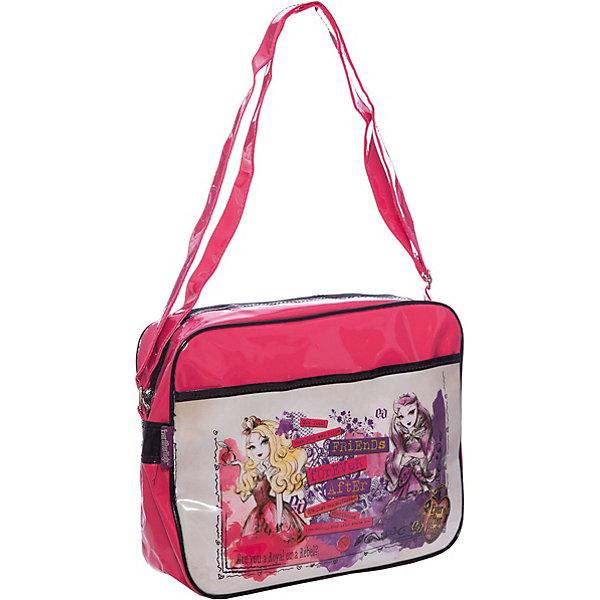 Сумка Lucky bag, Ever After High, Mattel,Школьные сумки<br>Характеристики товара:<br><br>• тип: сумка через плечо<br>• цвет: малиновый<br>• материал: полиэстер<br>• вид застежки: молния<br>• фактура материала: текстильный<br>• размеры : 32х26х8,5 см<br>• количество отсеков: 1 шт.<br>• карманы: внутренний открытый<br>• сезон: круглогодичный<br>• пол: для девочки<br>• страна бренда: США<br>• страна производитель: Китай<br><br>Сумка Lucky bag Mattel Ever After High отделение на молнии, передний карман, регулируемый плечевой ремень лаковая красная серия 26*32*8,5 см.<br><br>Сумку Lucky bag Mattel Ever After High можно купить в нашем интернет-магазине.<br>Ширина мм: 380; Глубина мм: 400; Высота мм: 280; Вес г: 320; Возраст от месяцев: 48; Возраст до месяцев: 96; Пол: Женский; Возраст: Детский; SKU: 5475519;