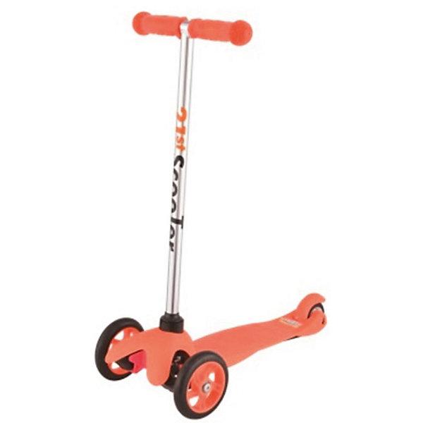 Самокат 3-х колёсный Maxi Scooter, оранжевый, 21st scooTerСамокаты<br>Характеристики товара:<br><br>• возраст: от 3 лет;<br>• максимальная нагрузка: 40 кг;<br>• материал: пластик, алюминий, стекловолокно;<br>• материал колес: полиуретан;<br>• диаметр передних колес: 120 мм;<br>• диаметр заднего колеса: 80 мм;<br>• размер деки: 52х11 см;<br>• размер самоката: 67х23х53,5 см;<br>• вес самоката: 2,6 кг;<br>• размер упаковки: 60х25х18 см;<br>• вес упаковки: 3,1 кг;<br>• страна производитель: Китай.<br><br>Самокат трехколесный Maxi Scooter 21st ScooTer оранжевый позволит весело и активно провести время на прогулке и поспособствует физическому развитию ребенка. Самокат подойдет для детей, которые только учатся кататься на самокате. Благодаря 2 передним колесам самокат сохраняет хорошую устойчивость, позволяя кататься начинающим юным райдерам. <br><br>Платформа выполнена из пластика с использованием стекловолокна, отличающегося прочностью. Передняя вилка оснащена амортизаторами для смягчения тряски по неровному дорожному покрытию. На ручках руля — прорезиненные накладки, предотвращающие соскальзывание ладошек во время езды.<br><br>Самокат трехколесный Maxi Scooter 21st ScooTer оранжевый можно приобрести в нашем интернет-магазине.<br>Ширина мм: 610; Глубина мм: 450; Высота мм: 390; Вес г: 2400; Цвет: оранжевый; Возраст от месяцев: 36; Возраст до месяцев: 2147483647; Пол: Унисекс; Возраст: Детский; SKU: 5475697;