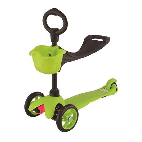 Купить Самокат 3-х колёсный с сидением Maxi Scooter , зелёный, 21st scooTer, Китай, Унисекс