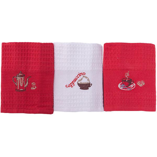 TAC Набор кухонных полотенец 40*60, 3шт., TAC, капучино полотенца набор полотенец ваф письмо деду морозу 3шт в упаковке 50x60 3шт в уп 1120047