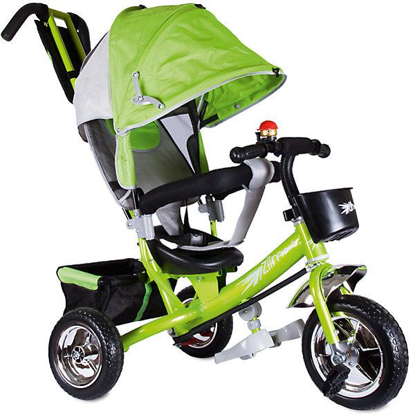 Трехколесный велосипед Бронз Люкс, ZilmerВелосипеды и аксессуары<br>Характеристики товара:<br><br>• материал: металл, полимер, текстиль<br>• цвет: зеленый<br>• диаметр колес: переднее - 254 мм, задние - 203.3 мм<br>• блокировка колес<br>• удобный руль <br>• безопасные поручни<br>• управление ручкой для родителей<br>• подставка под ноги<br>• корзинка<br>• материал колес: EVA<br>• надежные материалы<br>• ручной тормоз<br>• козырек<br>• продуманная конструкция<br>• яркий цвет<br>• возраст: от 12 мес<br>• размер: 75x46x25 см<br>• вес: 9 кг<br>• страна производства: Китай<br><br>Подарить родителям и малышу такой велосипед - значит, помочь развитию ребенка. Он способствует скорейшему развитию способности ориентироваться в пространстве, развивает физические способности, мышление и ловкость. Помимо этого, кататься на нём - очень увлекательное занятие!<br><br>Этот велосипед разработан специально для малышей. Он чем-то похож на коляску: есть родительская ручка и специальные подставки под ножки. С помощью ручки родители легко координируют направление движения. Данная модель выполнена в ярком дизайне, отличается продуманной конструкцией и деталями, которые обеспечивают безопасность ребенка. Отличный подарок для активного малыша!<br><br>Трехколесный велосипед Бронз Люкс, от бренда Zilmer можно купить в нашем интернет-магазине.<br>Ширина мм: 580; Глубина мм: 280; Высота мм: 420; Вес г: 10000; Возраст от месяцев: 12; Возраст до месяцев: 36; Пол: Унисекс; Возраст: Детский; SKU: 5478507;