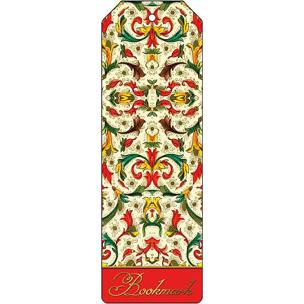 Феникс-Презент Закладка для книг декоративная Цветочный узор закладка для книг стерео royce акулы