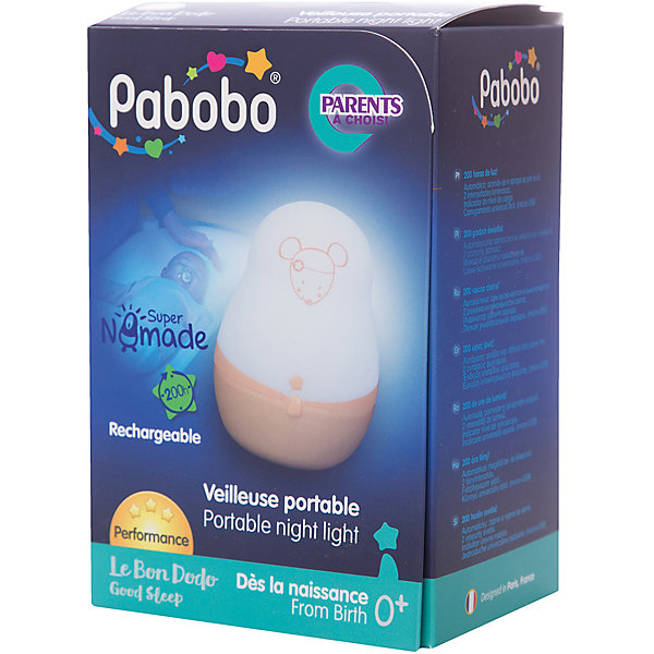 Pabobo Ночник супер путешественник, Pabobo, Лолабелла ночники без проводов pabobo pabobo ночник путешественник