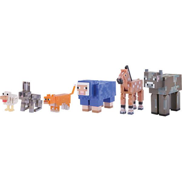 Jazwares Набор фигурок Jazwares Minecraft Tame animal Прирученные животные, 6 фигурок игровые фигурки guidecraft игровые фигурки better builders набор профессии