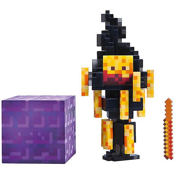Игровая фигурка Jazwares Minecraft Blaze,  8 смИгровые наборы с фигурками<br>Характеристики товара:<br><br>• материал: пластик <br>• в комплекте: фигурка, аксессуар, блок<br>• серия: 3<br>• упаковка: блистер на картоне<br><br>Фигурка выполнена по мотивам популярной игры Minecraft. В точности повторяет одного из персонажей вселенной. Подвижные конечности позволяют придавать игрушке различные позы. Изготовлена из качественных и безопасных материалов. Станет отличным пополнением коллекции.