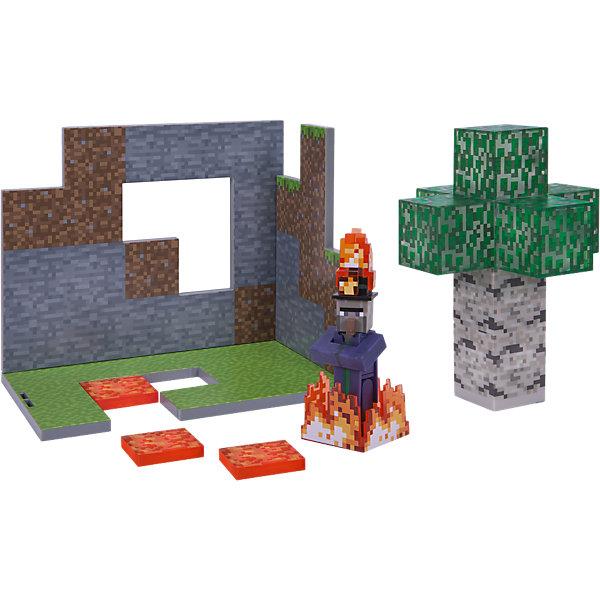 Jazwares Игровой набор Jazwares Minecraft Birch Forest Biome Березовый лес мягкая игрушка minecraft witch 36 см