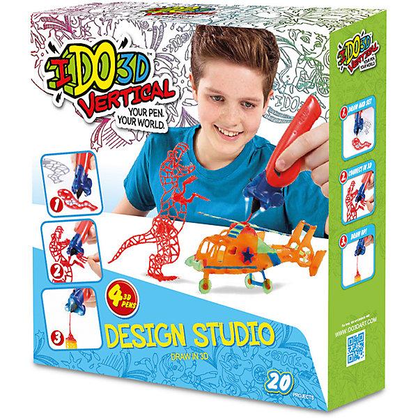 REDWOOD 3D 3D ручка Вертикаль,4шт, Дикие забавы (оранж+зел+син+красн) ручка шариковая paper mate quatro 4 цвета в одной ручке черн син зел красн карманный зажим в блист
