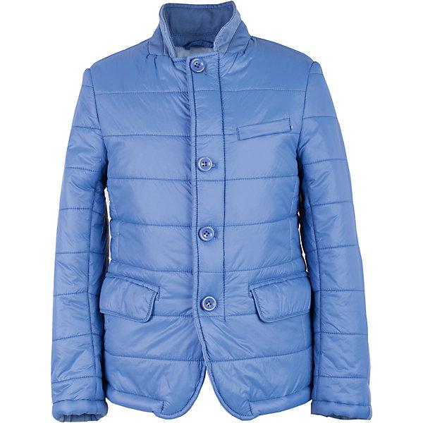 Куртка для мальчика GulliverДемисезонные куртки<br>Купить куртку - такую задачу ставят перед собой мамы мальчиков, отправляясь на весенний шопинг. Хорошая утепленная куртка для мальчика - вещь совершенно необходимая! Неустойчивая мартовская погода требует одеться не менее основательно, чем зимой, но весеннее настроение требует быть обновленным, стильным, современным! Модная стеганая куртка - именно то, что вам нужно! Она выглядит интересно, солидно, достойно, придавая весеннему образу ребенка особую элегантность. При этом, куртка удобна, не стесняет движений и позволяет мальчику быть самим собой, т.к. очень практична и комфортна. Изюминка модели в текстильной отделке, создающей игру фактур.<br>Состав:<br>верх:    100% нейлон; подкладка:  50% хлопок  50% полиэстер; утеплитель: 100% полиэстер<br>Ширина мм: 356; Глубина мм: 10; Высота мм: 245; Вес г: 519; Цвет: голубой; Возраст от месяцев: 84; Возраст до месяцев: 96; Пол: Мужской; Возраст: Детский; Размер: 128,122,140,134; SKU: 5482952;