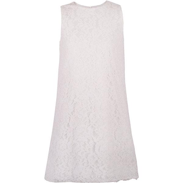 Платье для девочки GulliverОдежда<br>В сезоне Весна/Лето 2017 кружево не только не сдает своих позиций, а, напротив, набирает обороты. Скромное кружевное платье из коллекции Акварель - олицетворение благородства и чистоты. Это платье отлично впишется в летний гардероб и романтичной натуре, и девочке с активной жизненной позицией. Туникообразная форма платья не нарушит привычного комфорта, а крупная кружевная фактура подчеркнет торжественность и красоту момента. Если вы предпочитаете иметь в гардеробе девочки хотя бы одну стильную нарядную вещь, вам стоит купить платье из коллекции Акварель и вашему ребенку гарантирован образ современной принцессы с хорошим вкусом и благородными манерами.<br>Состав:<br>верх:               100% полиэстер; подкладка:           100% хлопок<br>Ширина мм: 236; Глубина мм: 16; Высота мм: 184; Вес г: 177; Цвет: белый; Возраст от месяцев: 72; Возраст до месяцев: 84; Пол: Женский; Возраст: Детский; Размер: 122,140,134,128; SKU: 5483379;