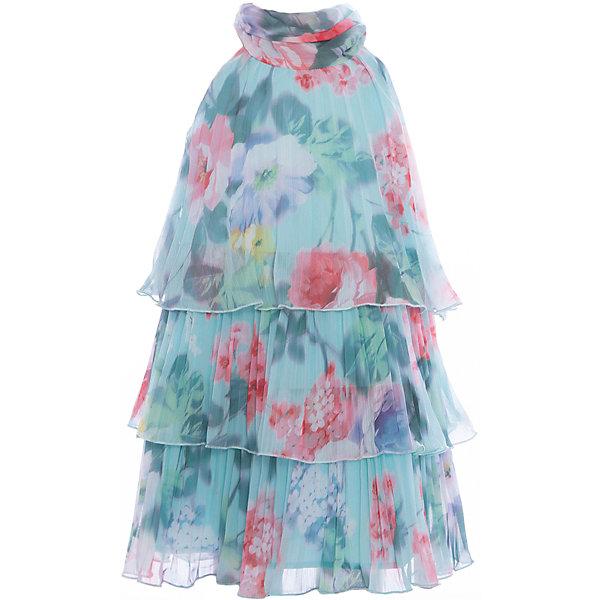 Платье для девочки GulliverОдежда<br>Воздушный орнаментальный шифон… Любое платье из него - настоящий шедевр! Потрясающий цветочный рисунок ткани в розово-ментоловой гамме, летящий трапециевидный силуэт, элегантное оформление горловины легким бантом настраивают на романтический лад, создавая нежный благородный образ, наполненной красотой и изяществом. Если вы предпочитаете иметь в гардеробе девочки хотя бы одну стильную нарядную вещь, вам стоит купить платье из коллекции Акварель и вашему ребенку гарантирован образ современной принцессы с хорошим вкусом и благородными манерами.<br>Состав:<br>100% хлопок/ 100% полиэстер<br>Ширина мм: 236; Глубина мм: 16; Высота мм: 184; Вес г: 177; Цвет: голубой; Возраст от месяцев: 24; Возраст до месяцев: 36; Пол: Женский; Возраст: Детский; Размер: 98,104,116,110; SKU: 5483389;