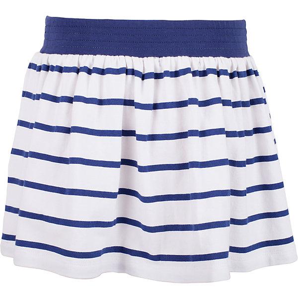 Юбка для девочки GulliverЮбки<br>Прекрасная трикотажная юбка идеально дополнит летний гардероб юной леди. Для дачного отдыха, прогулок и домашнего времяпрепровождения, юбка будет незаменима. Легкая, удобная, комфортная, юбка для девочек из мягкого трикотажа вне времени и вне моды. Крупная морская полоска придает модели динамику, контрастный пояс на резинке создает удобство в одевании-раздевании, что немаловажно для самостоятельных барышень. Если вы хотите купить юбку на каждый день, эта модель - то, что нужно! Ребенок будет чувствовать себя самим собой и обязательно оценит комфорт и свободу движений.<br>Состав:<br>95% хлопок      5% эластан<br>Ширина мм: 207; Глубина мм: 10; Высота мм: 189; Вес г: 183; Цвет: синий; Возраст от месяцев: 24; Возраст до месяцев: 36; Пол: Женский; Возраст: Детский; Размер: 98,104,116,110; SKU: 5483705;