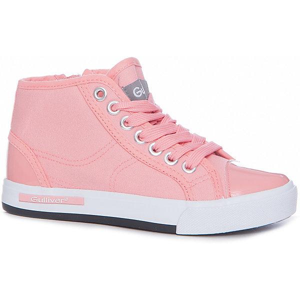Кеды для девочки GulliverКеды<br>Кеды, кроссовки, ботинки… С каждым днем спортивная обувь все больше входит в жизнь наших детей, вытесняя босоножки и туфли. Высокие розовые кеды с лаковым носком - мечта каждой модницы! Они отлично завершат любой образ в спортивном и casual стиле, придав ему новизну и индивидуальность. Розовые текстильные кеды для девочки выглядят потрясающе! Стильный дизайн, красивая форма, приятная фактура основного воздухопроницаемого материала, комфорт - ну что еще  нужно для отдыха и прогулок? Если вы хотите купить модные детские кеды, создающие настроение, выбор этой модели - правильное решение!<br>Состав:<br>Верх: канвас, подклад: канвас, стелька: канвас, EVA, подошва: вулканизированная резина<br>Ширина мм: 250; Глубина мм: 150; Высота мм: 150; Вес г: 250; Цвет: розовый; Возраст от месяцев: 120; Возраст до месяцев: 132; Пол: Женский; Возраст: Детский; Размер: 34,30,36,35,33,32,31; SKU: 5484167;
