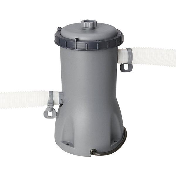 Фильтр-насос 3028л/час, серый, BestwayНасосы<br>Фильтр-насос 3028л/час, серый, Bestway (Бествей)<br><br>Характеристики:<br><br>• очищает воду от грязи <br>• подходит для бассейнов объемом до 12000 л<br>• производительность: 3028 л/час<br>• мощность: 84 Вт<br>• цвет: серый<br>• соединение: под хомут 32 и 38 мм<br>• вес: 2,56 кг<br><br>Фильтр-насос Bestway предназначен для очистки бассейнов объемом до 12000 литров. Фильтр очищает от грязи, насекомых и прочего мусора. Производительность фильтр-насоса - 3028 литров в час. Рекомендуется промывать картриджи 2-3 раза в неделю.<br><br>Фильтр-насос 3028л/час, серый, Bestway (Бествей) вы можете купить в нашем интернет-магазине.<br>Ширина мм: 550; Глубина мм: 550; Высота мм: 365; Вес г: 2557; Возраст от месяцев: 96; Возраст до месяцев: 2147483647; Пол: Унисекс; Возраст: Детский; SKU: 5486925;