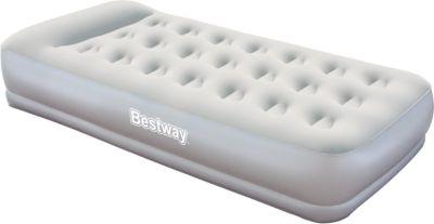 Матрас надувной, встроенный электронасос, 191х97х38 см, Bestway, артикул:5486947 - Надувная мебель