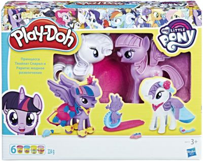 Набор для лепки Hasbro Play-Doh My little pony  Твайлайт и Рарити, артикул:5488557 - Товары для лепки