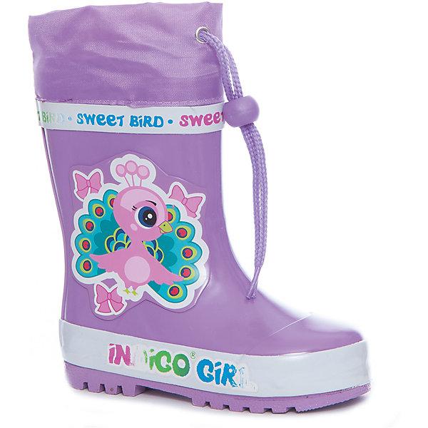 Фотография товара резиновые сапоги для девочки Indigo kids (5489378)
