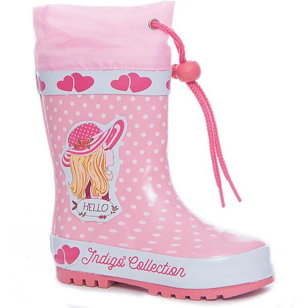 Фотография товара резиновые сапоги для девочки Indigo kids (5489426)