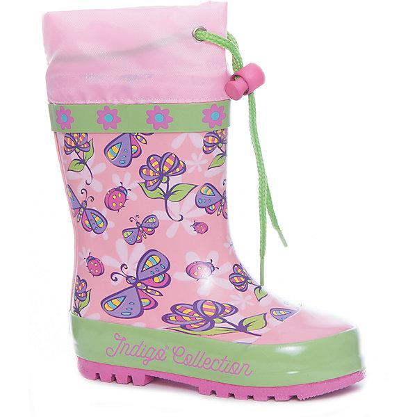 Фотография товара резиновые сапоги для девочки Indigo kids (5489442)