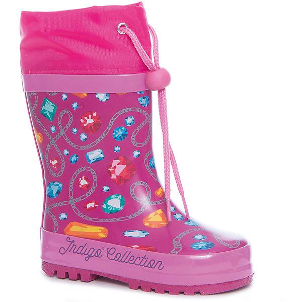 Фотография товара резиновые сапоги для девочки Indigo kids (5489458)
